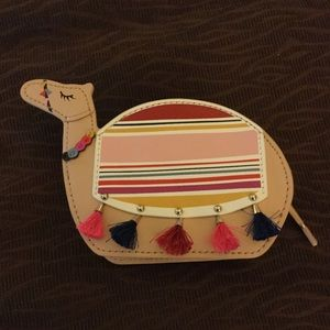 "Kate Spade Camel coin purse ""Spice things up"""